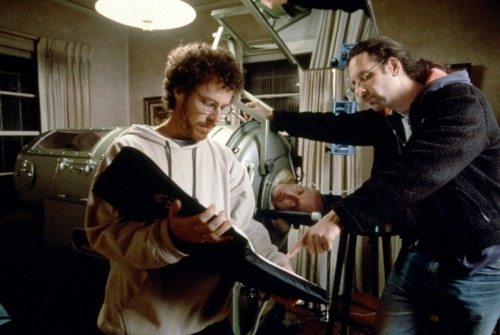 fuckyeahdirectors:  Joel and Ethan Coen on-set of The Big Lebowski (1998)