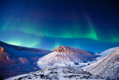Polar lights over Svalbard by Max Edin
