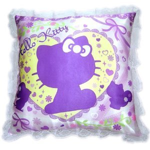 [ HELLO KITTY ] Silhouette frill cushion lavender [ Release 2012/06/30 ] Click Here!