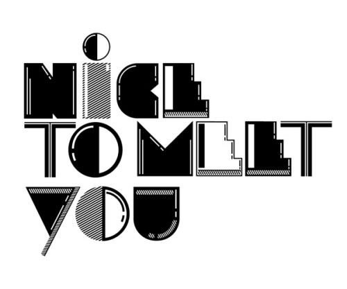 TYPE EXPERIMENTS | BLACK & WHITE Playing around with typography in its simplest form, black and white. This project was purely to create black and white type treatments that could end up as prints for posters and tshirts etc.