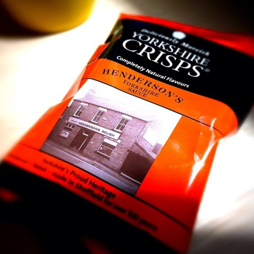 Henderson's relish crisps (Taken with Instagram at Nest.co.uk showroom)