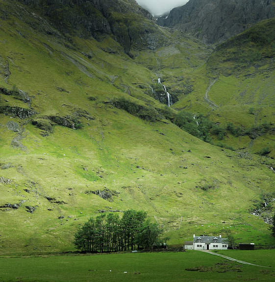 jaishadow:  This is in the village of Glencoe, Scotland; near Glen Coe in the Lochaber area of the Highlands.