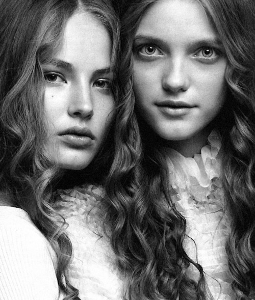 lavandula:  ruslana korshunova and vlada roslyakova shot by patrick demarchelier for vogue italia   ruslana korshunova