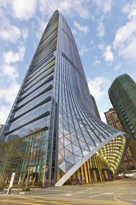 arcilook:  Farrels Designed the Tallest Building in Shenzhen: 442-metre Kingkey 100 Skyscraper  Currently the Kingkey 100 Skyscraper is the tallest building in Shenzhen and tenth tallest in the world. It is situated on the edge of Shenzhen's CBD and sets a new precedent for the successful 21st century transformation of commercial districts into vibrant and enriching environments. Completed at the end of 2011, the financial office tower was designed with a curving glass body and pointed tip. The curtain wall facade curls up at the base of the building to create a canopy over the entrance to the offices, while a shopping centre branches out from the other side. A hotel occupies the uppermost 25 floors of the 100-storey tower.