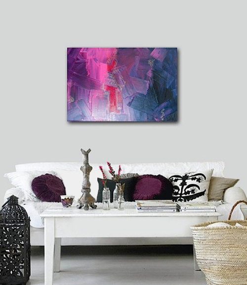 SONATA - original abstract modern painting by Linnea Heide