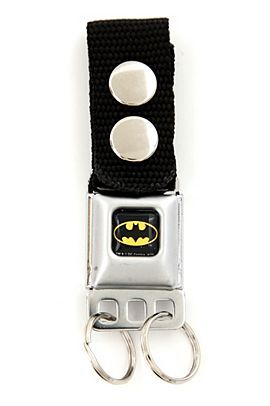 DC COMICS BATMAN SEAT BELT BUCKLE KEY CHAIN from Hot Topic. O.O I need more Batman stuff. Like… right now.