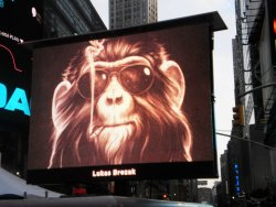 lifeismusicentertainment:  Dr. Brezak Art Takes Times Square !! Congratulations Lukas Brezak! (photo by: sister & cousin)