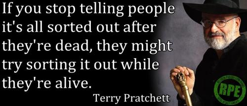 religiousragings:  Terry Pratchett