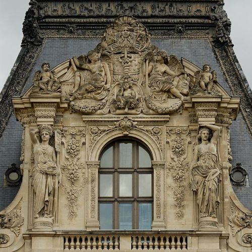 live-2-learn:  pediment colbert pavillion louvre