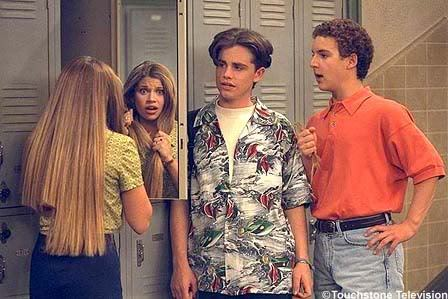 "Cory and Topanga, Boy Meets World Sure, there was that one time that Cory kissed that skank Lauren on the ski trip and then Topanga met the guy at the art gallery (who in my memory was played by Leonardo DiCaprio but according to IMDb was actually Jonathon Jackson — whatever), but other than that, this power couple's drama never lasted as long as most of their TV counterparts. They supposedly loved each other since they were five years old — even though in the early episodes they were barely even friends. Still, Topanga never left him for Shawn Hunter, which has to show her devotion. Not only was their love strong enough to erase their middle school memories, it also managed to lure Topanga away from Yale and into non-existent Pennbrook and marriage to Cory two years later. They lived horribly for a while, stuck in the ""married dorms"" (which along with those co-ed bathrooms probably aren't real) and begging Cory's stubborn parents for help, but it all worked out because they had each other. Or maybe it was because of Mr. Feeny's brilliant guidance throughout their entire lives. Either way.Lesson Learned: Love conquers all… especially continuity and the Ivy League. Read more: Lessons Learned From the Teen Couples of '90s and '00s TV"