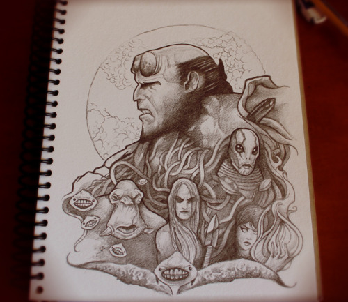 This month's submission is dedicated to Mignola, del Toro and Hellboy 2, The Golden Army.