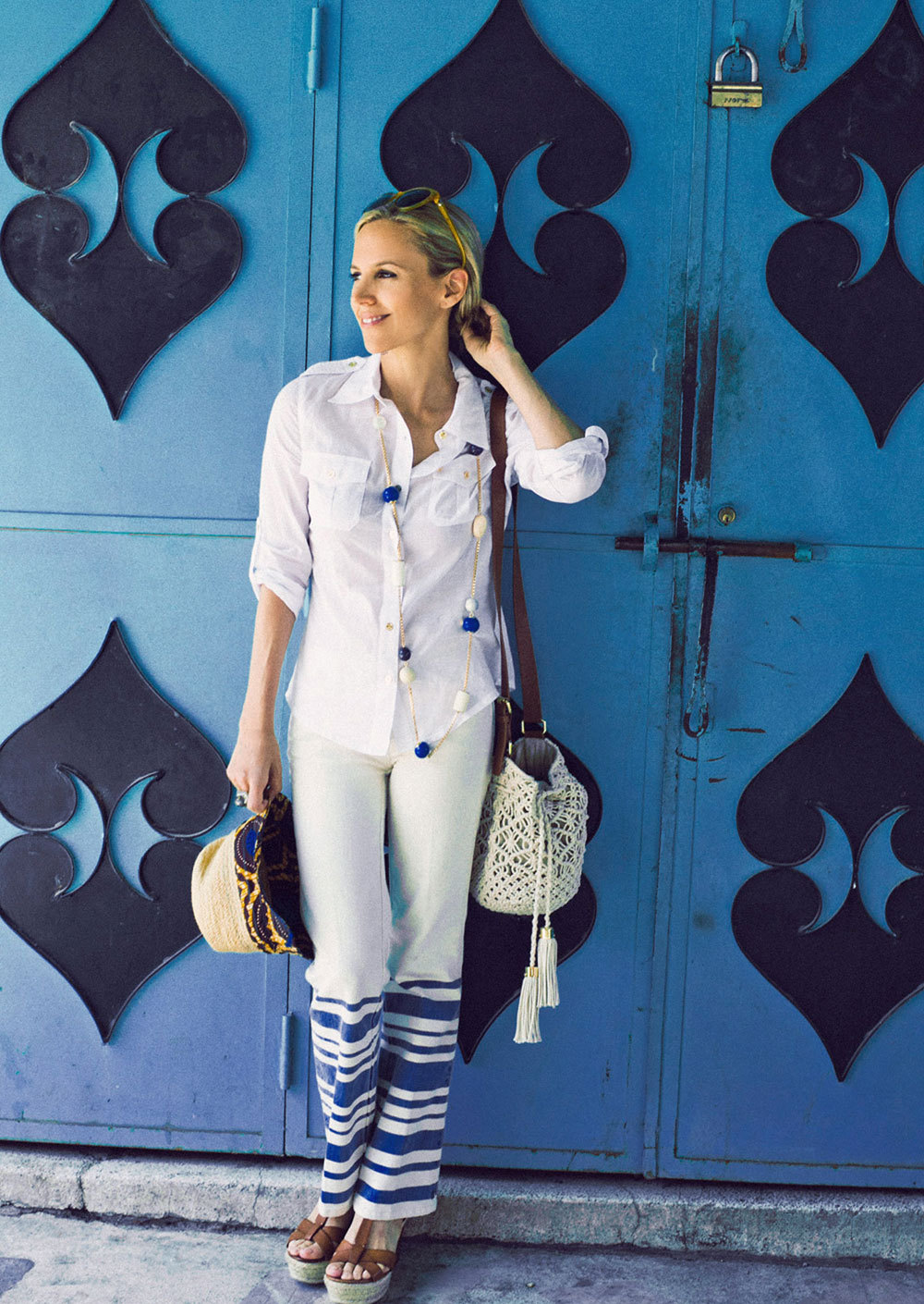 B is for Blue The focus of our pre-fall collection — a forever-classic, flattering color and one of Tory's all-time favorites.