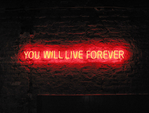 Forever by  Tim Etchells