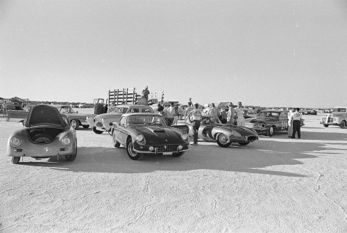 1962 Bonneville Speed Trials Starring: Porsche 356, Ferrari 400 Superamericana and Jaguar E-Type