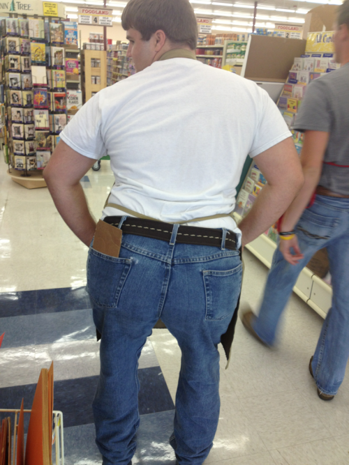 Heath decided to wear a belt to work for the first time, like, ever!