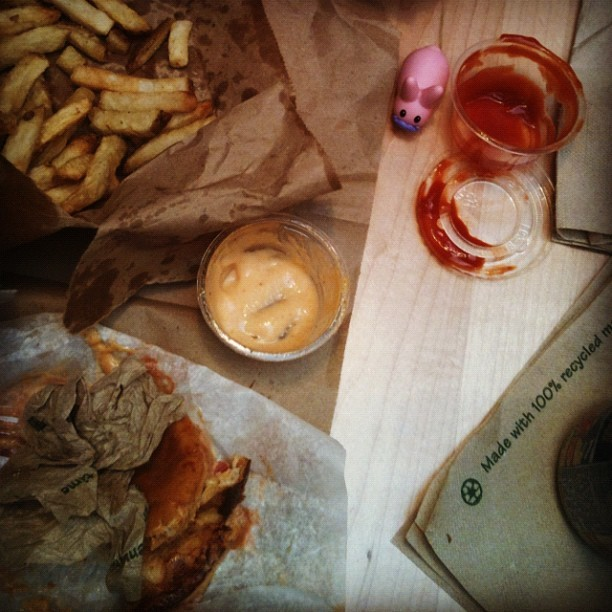 Monday Funday lunch carnage (Taken with Instagram at Clive Burger)