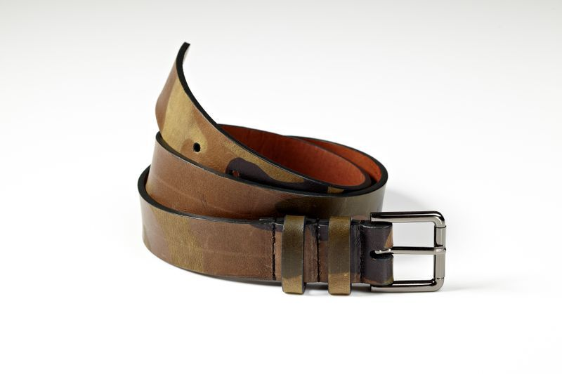 introducingmrbentley:  Italian leather camouflage belt by Logan Zane