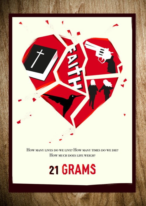 minimalmovieposters:  21 Grams by Rocco Malatesta