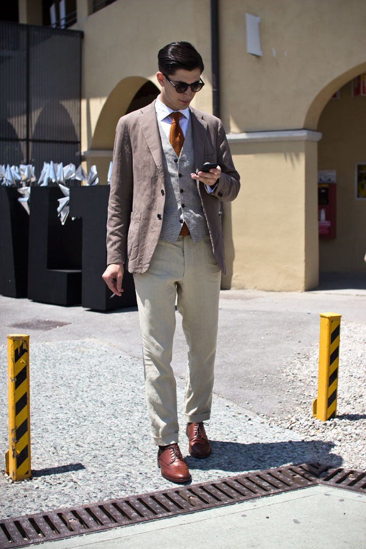 I snapped a few street style shots today during the first day Pitti here in Florence. Check the set out on Four Pins.
