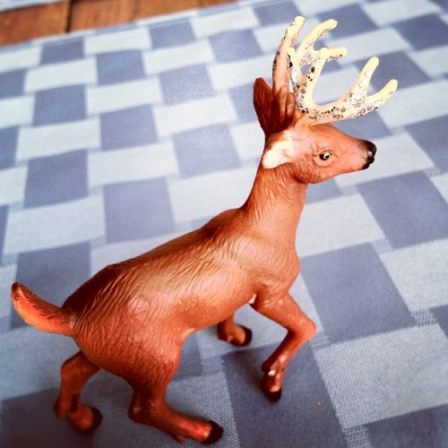 I painted the antlers  (Taken with Instagram)