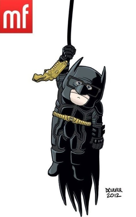 "Carl From ""Up"" in ""The Dark Knight Rises"" The grumpiest Batman ever.  If Pixar Characters Took Over All the Summer Movies Art by Dennis Culver"