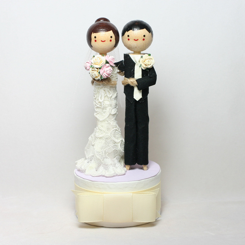 Wedding No. 611 - Custom Wedding Topper with high bun