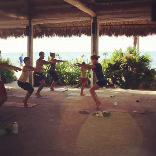 thecedarfox:  Every family needs a yoga instructor. #yoga #floridakeys (Taken with Instagram)