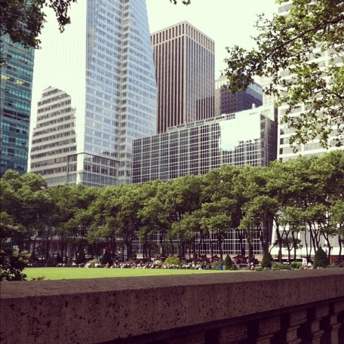 Lunch in #BryantPark #NYC  (Taken with Instagram)