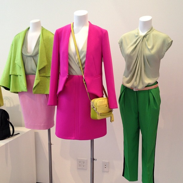 officialstyledotcom:  Great color combo @dvf resort. ML (Taken with Instagram)