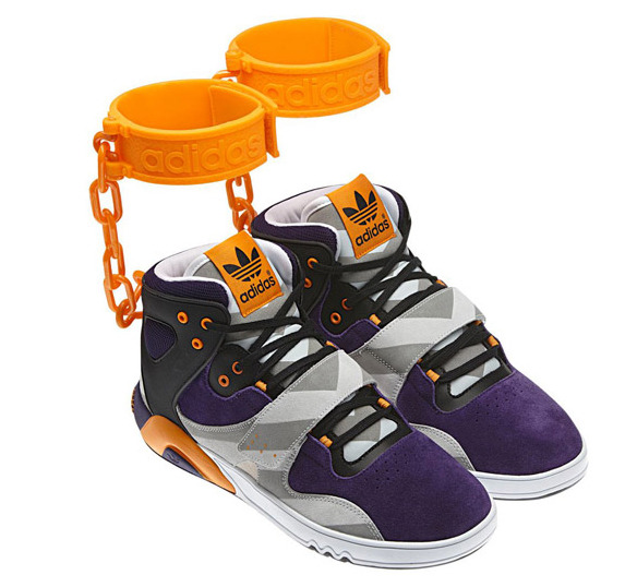 "Adidas 'shackle' shoes cancelled amid slavery controversyAdidas has dropped its plans for a sneaker with a shackle-like ankle cuff after critics complained the shoes were racist and reminiscent of slavery.They promoted the shoe with the line: ""Got a sneaker game so hot you lock your kicks to your ankles?"""