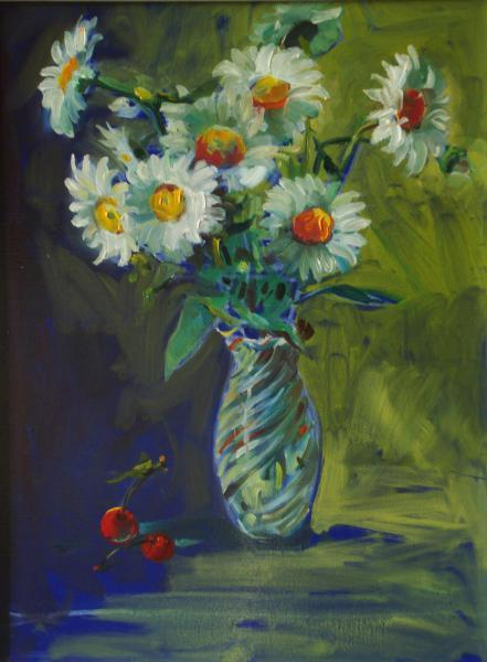Artist painter Ukraine . Lutsik Stepan A.   Daisies
