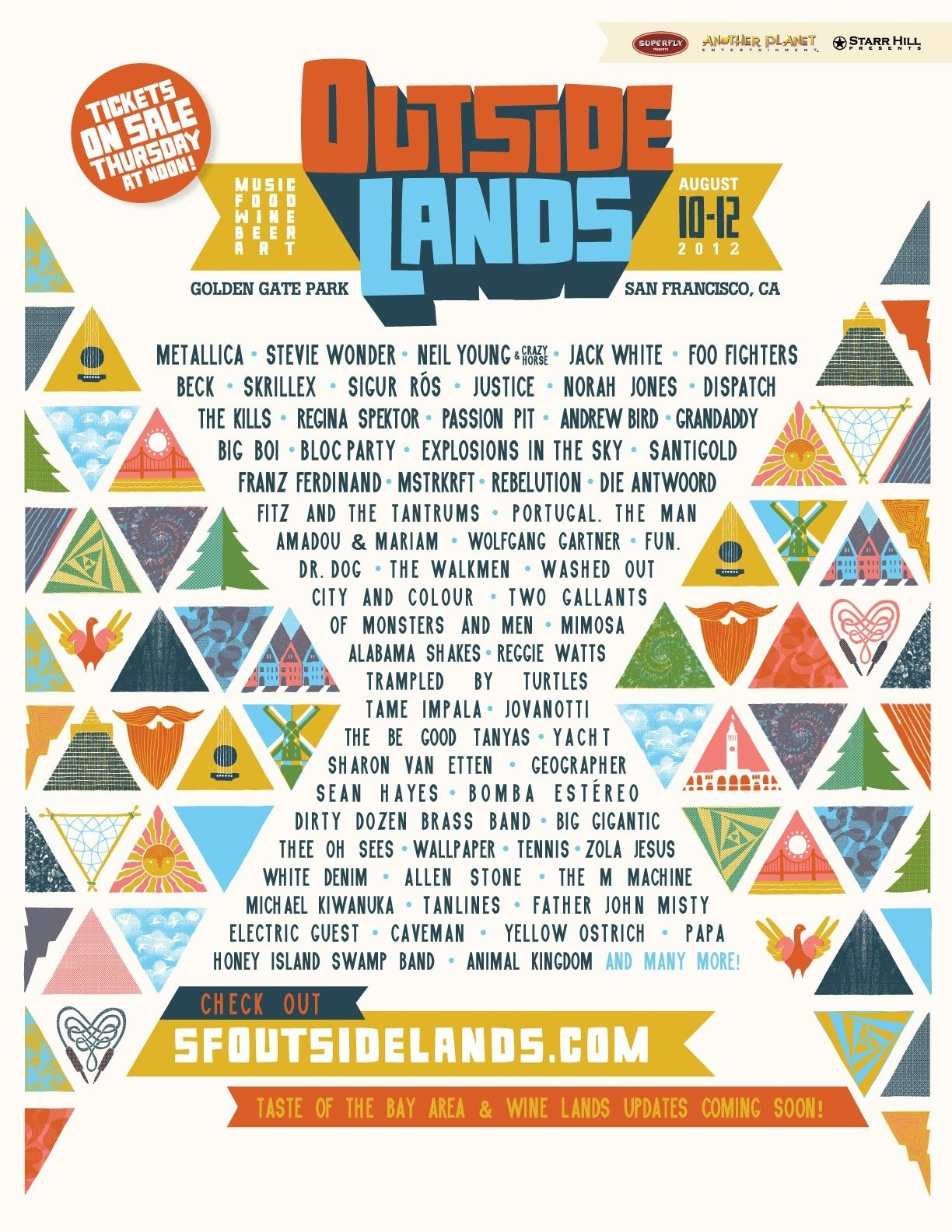 Outside Lands 2012 poster by Andrew Holder