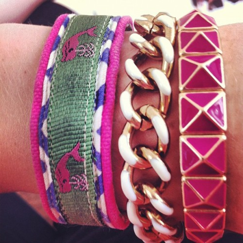 boatshoesandbowties:  Stackin' #armparty (Taken with Instagram)