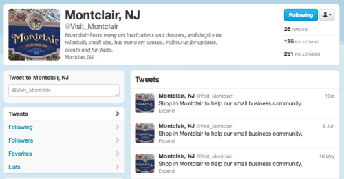 "looks like the needle on montclair's twitter record got stuck y'all. the thymes street team got together to discuss some ideas for montclair to step up their social media game, and here they are: montclair thymes' ideas for montclair to step up their social media game 1. hire a teen intern - you don't have to pay them because their parents probably do anyway. teen interns are great because they love texting and tweeting and building their resumes without actually having to do anything but text and tweet. 2. let the mayor take over. hilarity ensues. 3. give control of the account to a montclair citizen each week, just like sweden does. if someone starts getting racist, ignore it. 4. keep tweeting ""Shop in Montclair to help our small business community."" but replace the o's with zeros and the i's with ones like ""sh0p 1n m0ntcla1r t0 help 0ur small bus1ness c0mmun1ty."" it'll look hip like bling bling. 5. give montclair thymes a bagillz dollars and we'll do it."