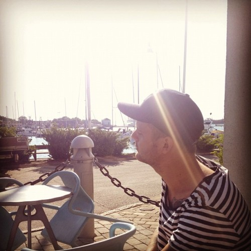 Dinner in the sun by the docks. ☀🍴 #livegothenburg  (Taken with Instagram at Nya Varvet Studios)