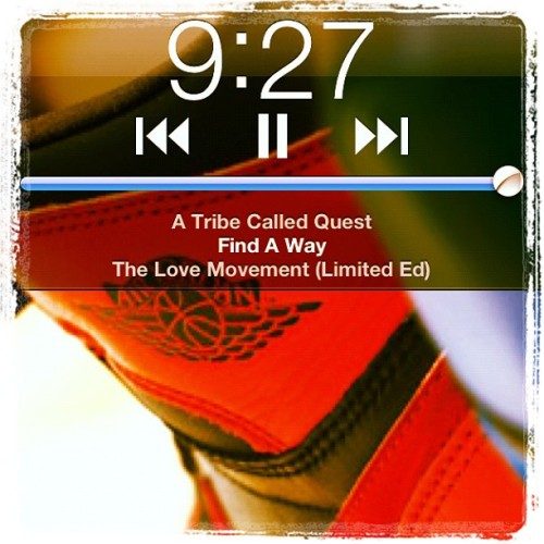 Morning, peoples. #nowplaying #np #tribe #atcq #music #airjordan #jordan #bred #screencap (Taken with Instagram at Victoria Gardens Mall)