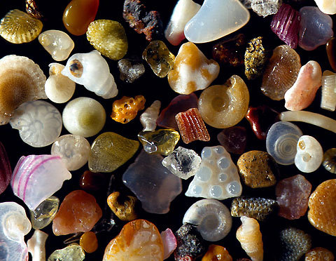 Grains of sand magnified times 250. A box of jewels, except billions and billions of them right there. Want a dress that looks like this..