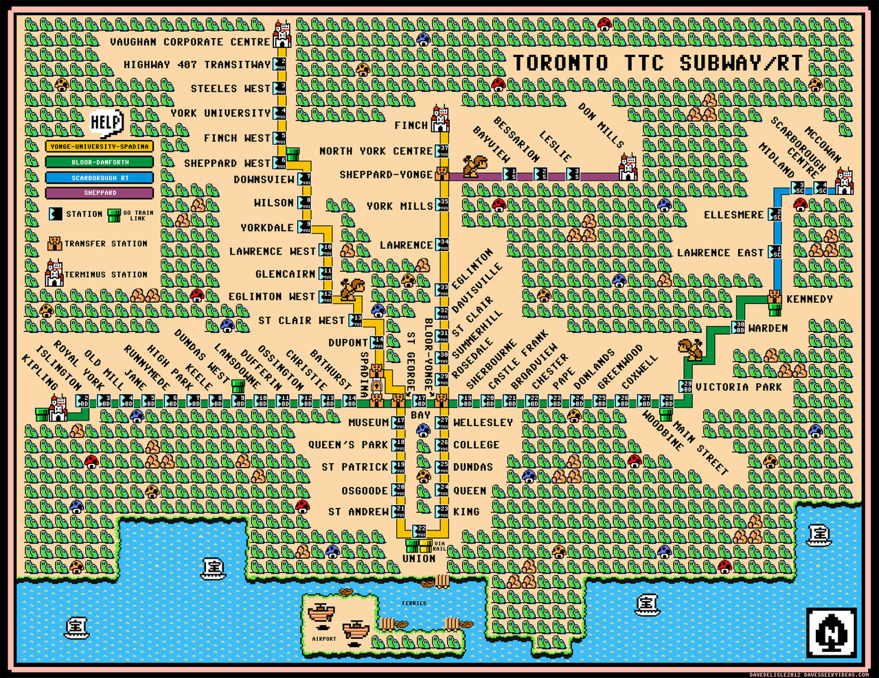 "chiefcreative:  Designer Reimagines Subway Maps In The Style Of ""Super Mario""."