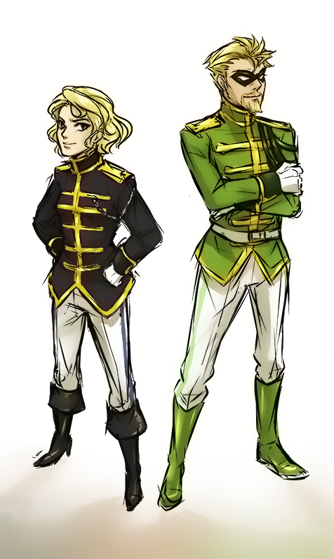 zombiedaisuke:  Uh…drunk drawings from Monday night… A Fancy Justice League. And Aquaman.  Why did I think this was a good idea? And how did I achieve it? O_o; Sorry for my anime.  EDIT: WOW YOU GUYS. Thanks for all the love. Here's a bonus Black Canary and Green Arrow. Coming soon: Vixen and Hawkgirl.