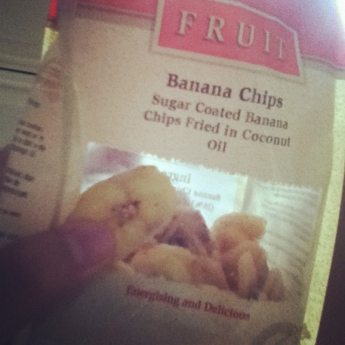 Dislike #fresh #bananas so I bought some #sugar #coated #bananachips #driedbanana #snack #yummy  (Taken with Instagram)