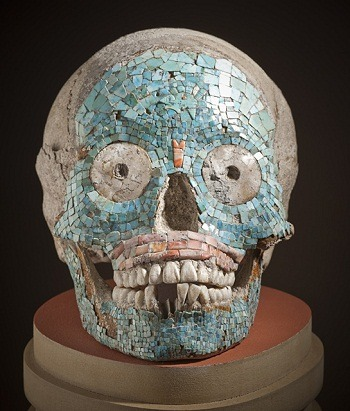 lacma:  As the Misfits say, I want your skulls… Head Case: Contemplating Craniums in LACMA's Collection Mosaic Skull, Mexico, Western Oaxaca or Puebla, Mixteca-Puebla Style, 1400-1521, gift of Constance McCormick Fearing  Great post on a sampling of the skulls in LACMA's Collection.