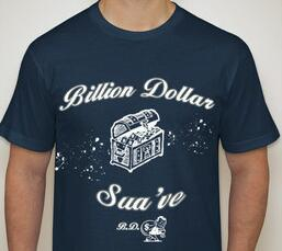 Latest Design for the B.D.S Tee shirt. (Billion Dollar Sua've) Clothing Line Coming Soon!