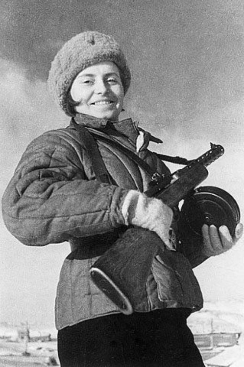 zhenotdel:  Soviet woman from the Army, one of the Defenders of Sevastopol, June 21st, 1942.