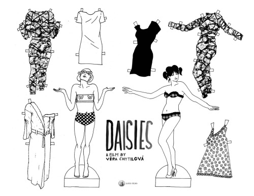 criterioncast:  Check out these paper dolls for Daisies that the folks from Janus Films put together. Also: follow their new Tumblr.  Top of my to-see list. PS - will one of my artistically-inclined friends please make these for Celine & Julie Go Boating?