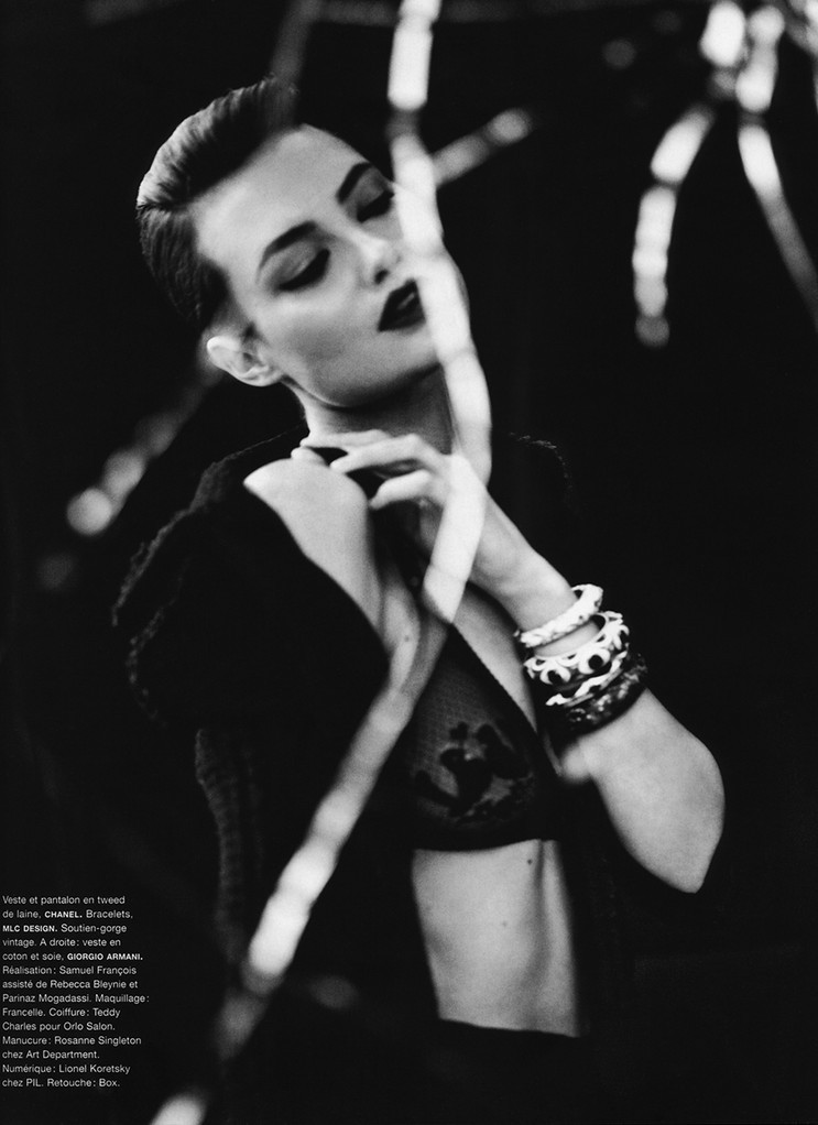 Shalom Harlow Photographed by Nathaniel Goldberg for Numero (#107) October 2009
