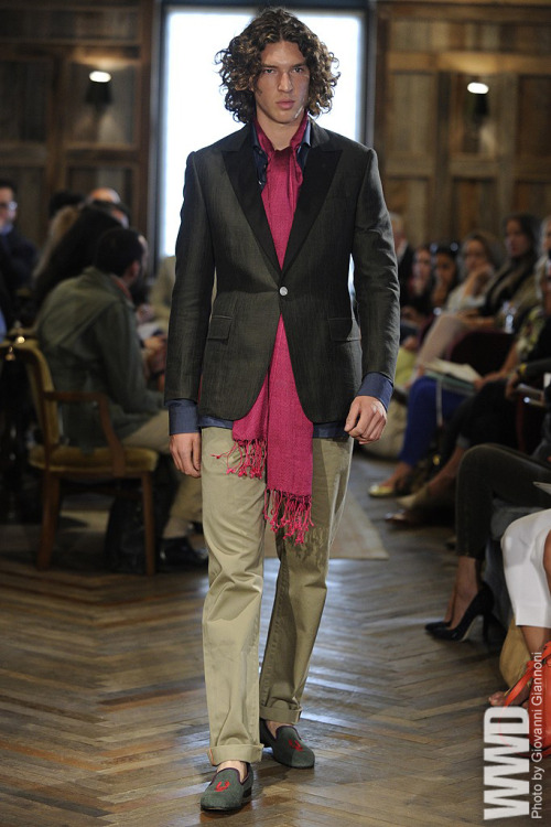 Rake Men's RTW Spring 2013 Clive Darby, the founder and creative director of Rake, had a romantic adventurer in mind — a man equally at home in the steamy bazaars of the Middle East as the equally hot nightclubs of Paris.  For More