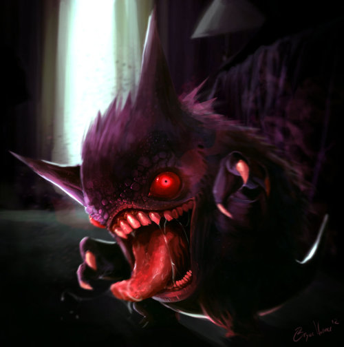dotcore:  Gengar.by Bryce Andrew Warner. via Svalts.