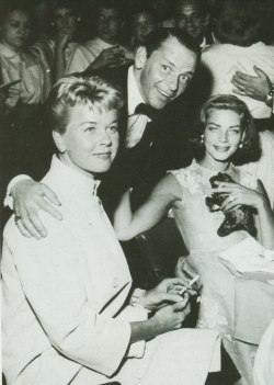 Doris Day, Frank Sinatra and Lauren Bacall