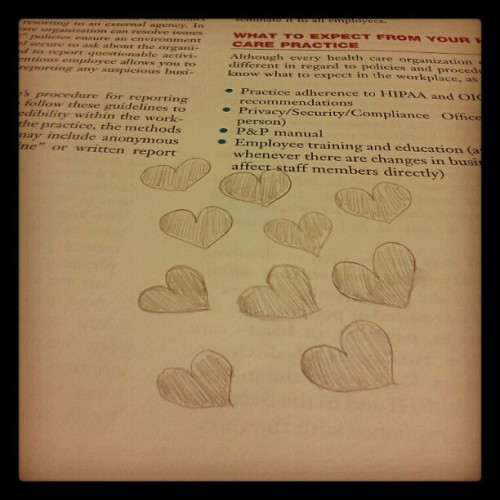 Your the reason I sit in class drawing hearts <3 (Taken with Instagram)