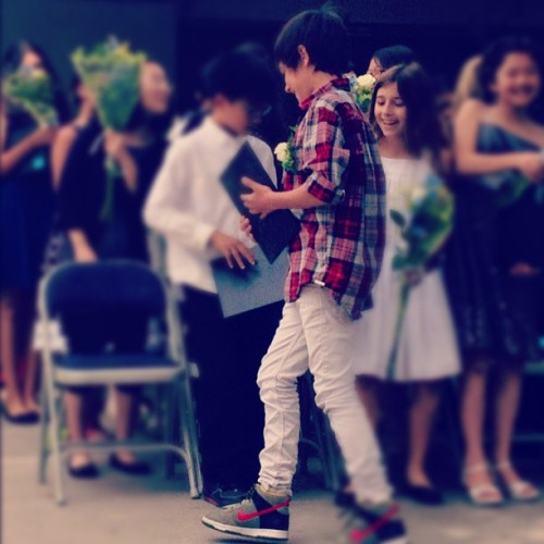 Atta Boy, Son. #fifthgradegraduation #mybabyisntababynomore (Taken with Instagram)